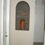 Gonazalez Residence Niche in Wall w/ Stone Mosaics